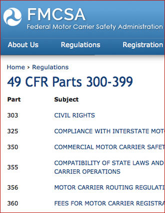 FMCSA Driver Rules & Regulations